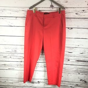 Liverpool Jeans Company ankle pants hibiscus coral